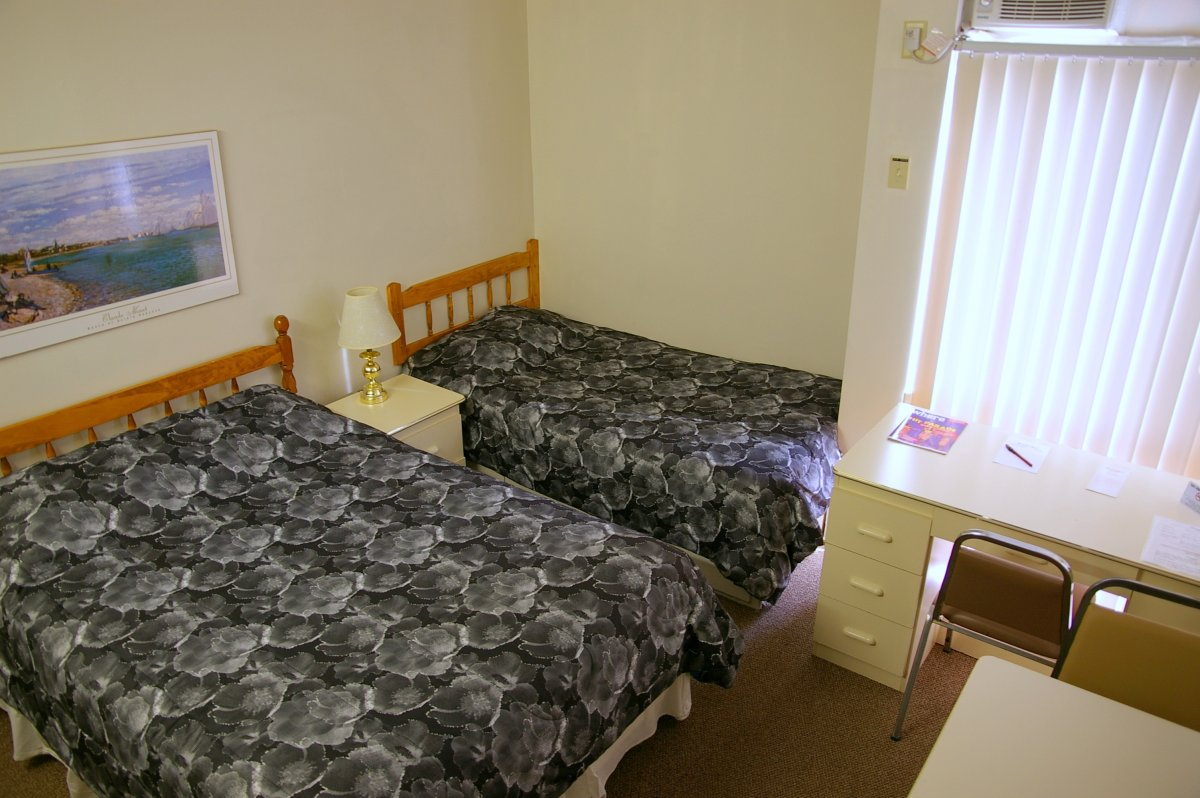 A typical double room.